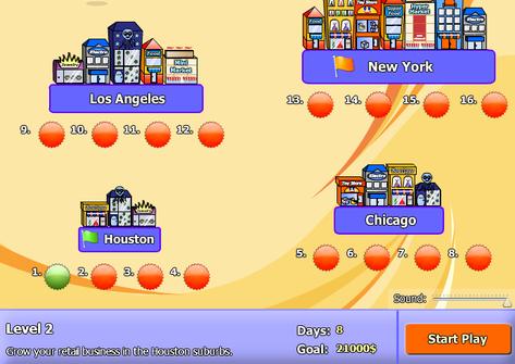 Browser game negozi soldi