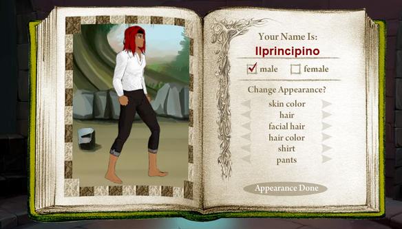 creazione personaggio mmorpg online