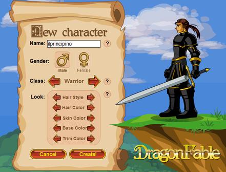creazione personaggio rpg