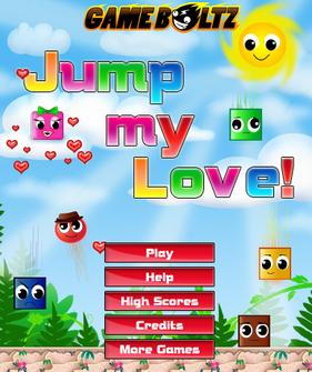 saltare sui mattoncini browser game