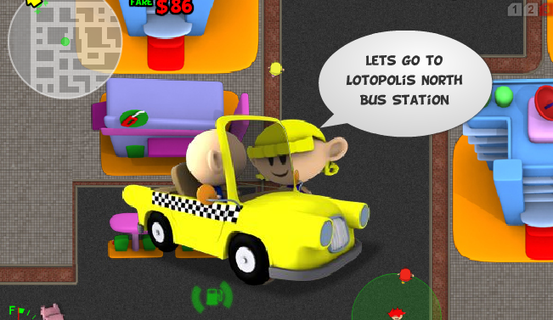 browser game taxi