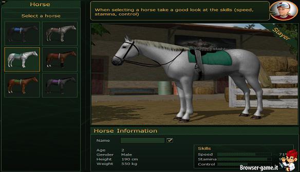 Gallopstars Browser Game Gestionale Con Gare Di Cavalli