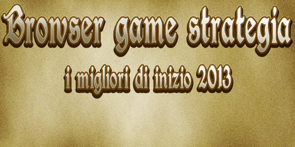 browser game strategia 2013