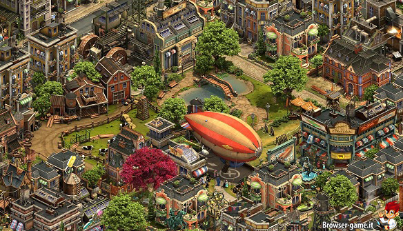 città e dirigibile Forge of Empires