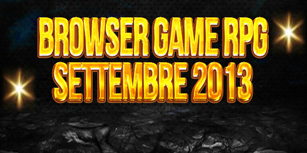 Browser game rpg settembre 2013