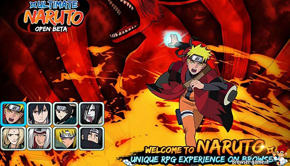 Naruto personaggi browser game