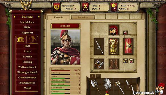 Personaggio Gladiatus