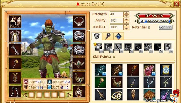 Personaggio Lords Online
