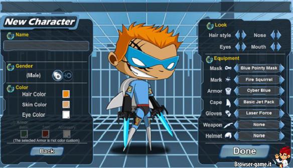 Creazione personaggio HeroSmash