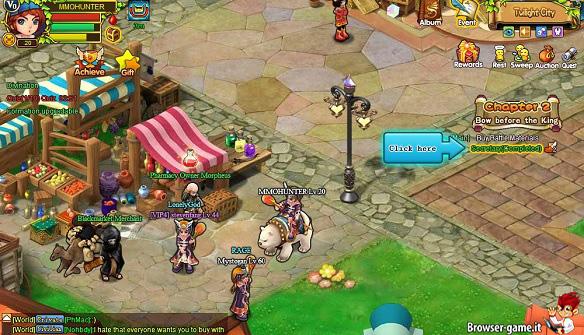 Ambientazione gameplay Tamer Saga