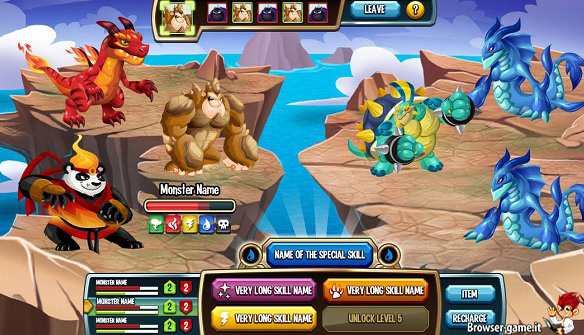 Combattimento Monster Legends