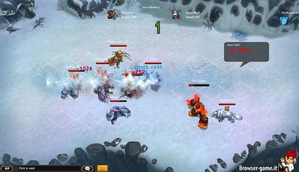 Scontro sul ghiaccio Sentinel Heroes