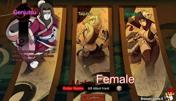 personaggi femminili in I am ninja