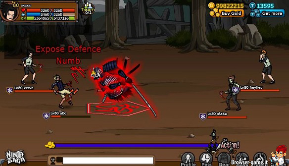 Combattimento Ninja Saga