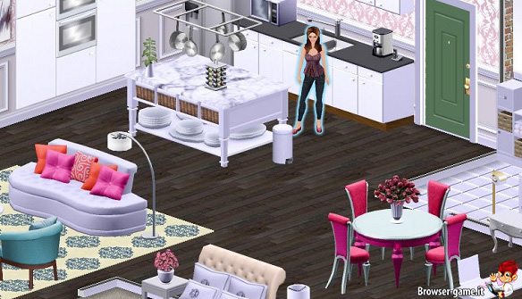 City girl life social game di simulazione di moda for Gioco arredare casa virtuale