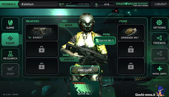 Personaggio Shadowgun Deadzone