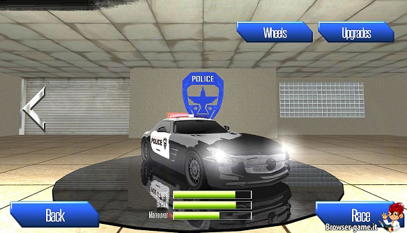 Machina della polizia Racer vs. Cops