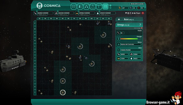 Schermata principale Cosmica