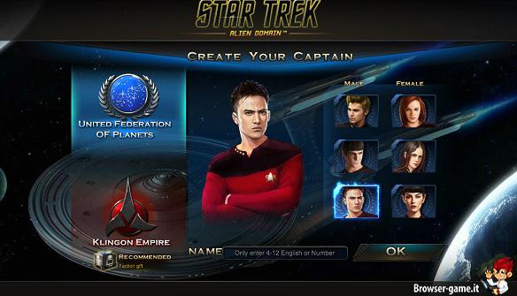 Creazione personaggio Star Trek Alien Domination