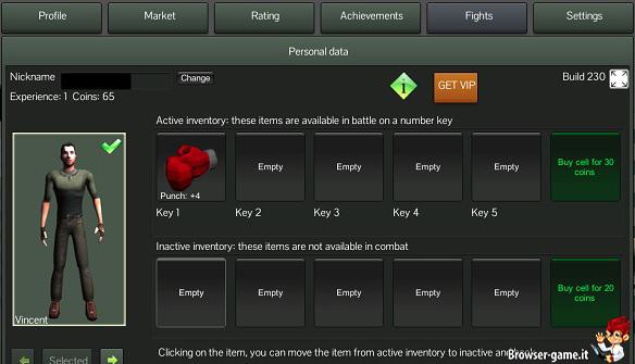 Inventario Fighter 3D