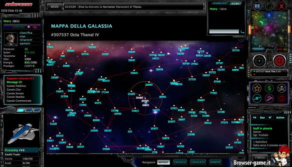 Mappa della galassia Wardrome
