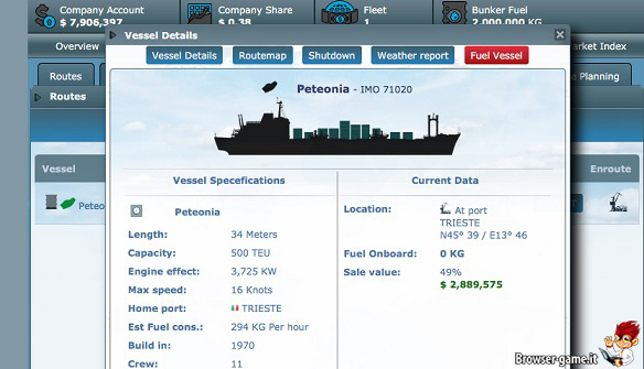 Nave Peteonia Shipping Manager