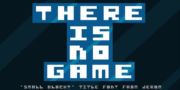There is no Game: avventura grafica inconsueta e minimalista