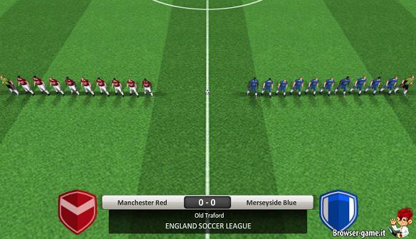Giocatori in campo England Soccer League