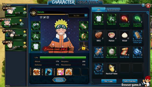 Personaggi Naruto Online
